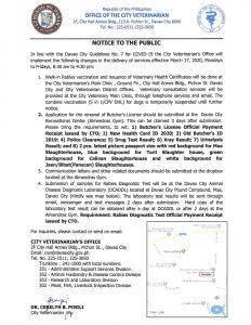 Notice to the Public
